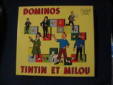 TINTIN DOMINOS BOITE VIDE VINTAGE NEUVE JEUX NOEL 1970 EMPTY BOX CAJA VACIA