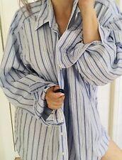 RALPH LAUREN MENS SHIRT STRIPED COTTON CLASSIC FIT BLUE WHITE SZ XL