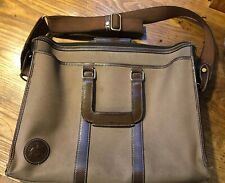 Vintage Hunting World Canvas And Leather Briefcase, Laptop Bag