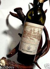 35%OFF BROWN ANTLER WINE HOLDER, BOTTLE REST, POURER, DISPLAY. A WORKING ANTIQUE