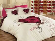 Housse de couette taie d'oreiller coton ensemble de literie Variantes LOVESTORY