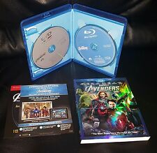 The Avengers (Blu-ray/DVD, 2012, 2-Disc Set) with rare slipcover
