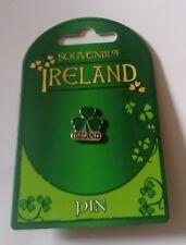 Irish shamrock pin badge.