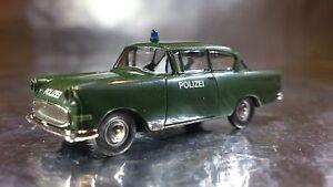 ** Brekina 20006 Opel Rekord PI Police Vehicle Dark Green 1:87 HO Scale