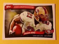 FRANK GORE (SP) PEAK PERFORMANCE VARIATION #PP15 SF 49ers * 2010 TOPPS NFL