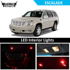 Red LED Interior Lights Accessories Package Kit fits 2007-2014 Escalade