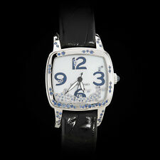 "Jean Richard Milady ""Water"" High Jewelry Ladies' Watch. Sapphire & Diamond. Rare"
