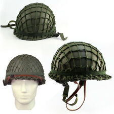 M1 CS With Netting Cover Helmet WWII Steel Ww2 U.s Army Equipment Military