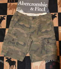 NWT Abercrombie & Fitch Men's Camo Cargo Shorts - Camoflauge - Size 30