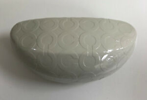 Coach Eyeglasses Sunglasses Case White / Light Cream Color Hard clam Shell Case