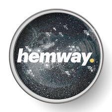 Hemway Nero 1L Chiaro Vernice Glitter Smalto per pre-verniciato pareti fai da te UK
