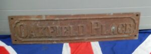 QUIRKY VICTORIAN ANTIQUE VINTAGE CAST IRON EDWARDIAN STREET SIGN WALL ART