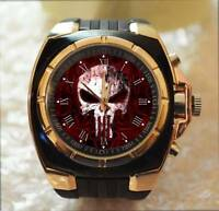 The Punisher Skull SuperHero Commando Army Style Chunky Gift Wrist Watch