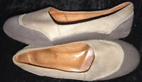 Women's GENTLE SOULS 'BELODY' Taupe Leather Slip On Ballet Flat Size 7M