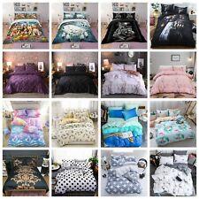 3D Animals Doona Quilt Duvet Cover AU Hot Bedding Set Double Queen Pillow Cases