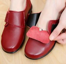 HOT Women black leather loafer shoes slip on causal flat comfort Plus size P21