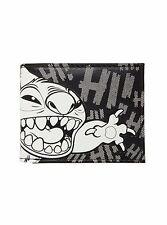 Disney Lilo & Stitch Black & White Stitch Bi-Fold Wallet Hi Aloha Faux Leather