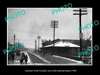 OLD LARGE HISTORIC PHOTO OF GASTONIA NORTH CAROLINA, THE RAILROAD STATION c1950
