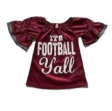 Us Seller! Footbal crimson girls ruffle jerseys (all Sizes)