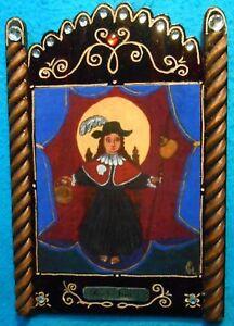 "Santo Nino of Atocha #4 Retablo - ""Miracle working infant """