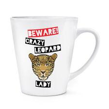 Beware Pazzo Leopardo Donna 341ml Latte Tazza - Divertente Animale