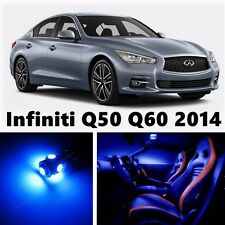 13pcs LED Blue Light Interior Package Kit for Infiniti Q50 Q60 2014-2015