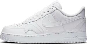 Mens Nike Air Force 1 07 LV8 Trainers CK7214 100 Triple White Size UK 11.5 EU 47