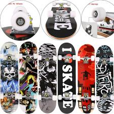 CAROMA Skateboard Kinderskateboard Komplettboard Funboard Holzboard 80x20cm