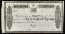 bucksless 2049:CAMPOBELLO MILLS & MANFRING $10, WELSHPOOL NEW BRUNSWICK IN 1800s