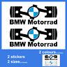 2x BMW Motorrad Piston Vinyl Decal Sticker Autocollant Aufkleber Pegatina