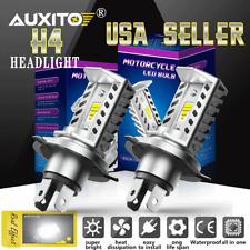 2x H4 9003 HB2 CSP LED Headlight Bulbs Kit High/Low Beam 6500K For Motorcycle