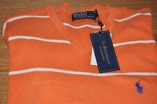 Men's Ralph Lauren V Neck Pima Cotton Jumper - Size XL