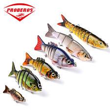 Lot 6pcs Colors Jointed Swimbait  Fishing Lures Bass Crankbait Hooks Tackle Bait