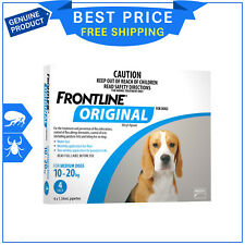 FRONTLINE ORIGINAL Blue Pack For Dogs 10 to 20 Kg 4 Pipettes Flea Tick treatment