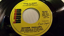 ESTHER PHILLIPS SUCH A NIGHT& CANT TRUST YOUR NEIGHBOR WITH YOUR BABY 1974 KUDU