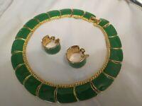 Vintage MONET Enamel Necklace Earrings Set