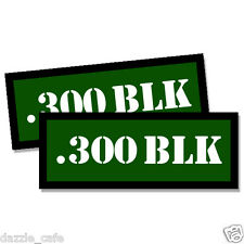 300 BLK Ammo Can Stickers 2x Ammunition Gun Case Labels GREEN Decals 2 pack