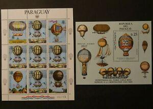 Weltweit:  Paraguay / Weltraum. 200 Jahre Luftfahrt. Postfrisch.