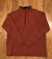 Columbia 1/4 Zip Fleece Pullover. Men's Size XL. Deep Red. Barely Worn.
