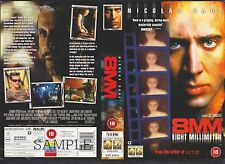 8mm Nicolas Cage Video Promo Sample Sleeve/Cover #9504