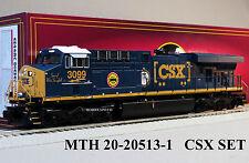 MTH PREMIER CSX ES44 SAFETY TRAIN SET PROTOSOUND 3.0 o gauge train 20-20513-1