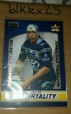 2016 NRL Elite Series Johnathan THURSTON ROAD TO IMMORTALITY Box Card BC1/2
