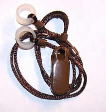 ADULT'S 2 Hearing Aids longer Leash RETAINER CLIP LOSS for 2 H.A.'s .PLAIN BROWN