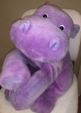 "RARE Aurora Purple HIPPO Limited Edition JUMBO Hippopotamus Plush HUGE 28"""