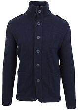 VAN SANTEN & VAN SANTEN Strickjacke Cardigan Größe L Wolle Wool Navy Blue NEU