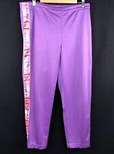Vintage Diadora Womans Size 12 Purple Tracksuit Bottoms Track Pants Tape Ribbon