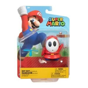 """Nintendo Super Mario 4"""" Poseable Action Figure - Red Shy Guy with Propeller"""
