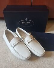 100% authentic Prada Saffiano Logo Drivers talco size 9.5 (10.5 US)