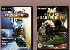 MICRO COMMANDOS & MARINE SHARPSHOOTER. 2 STRATEGY/SHOOTER GAMES FOR THE PC!!