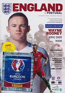 ENGLAND v Portugal (Euro 2016 warm-up Match) includes FREE Panini stickers pack